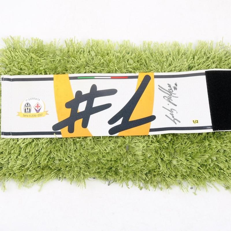 Buffon's Signed Match-Worn Captain's Armband, Juventus-Fiorentina 2016/17