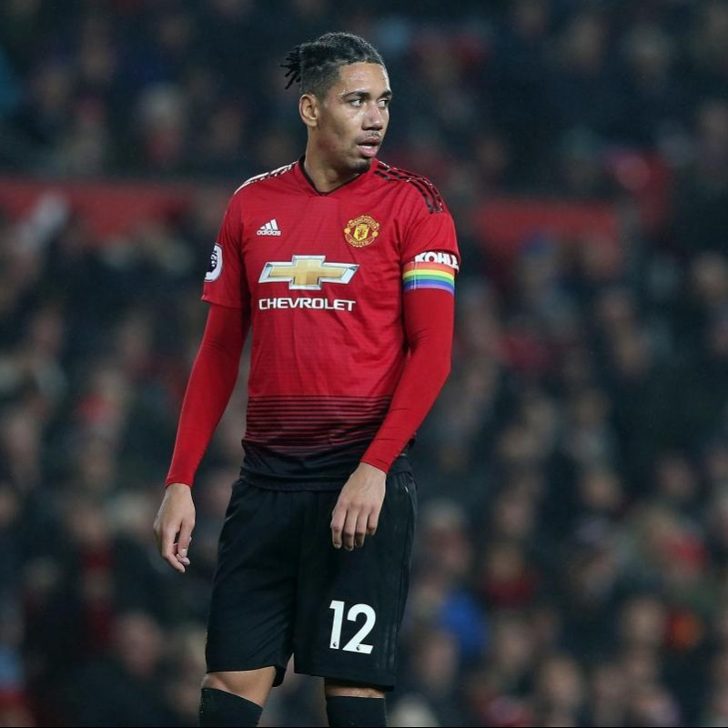 Smalling's Manchester United Match Shirt, PL 2018/19