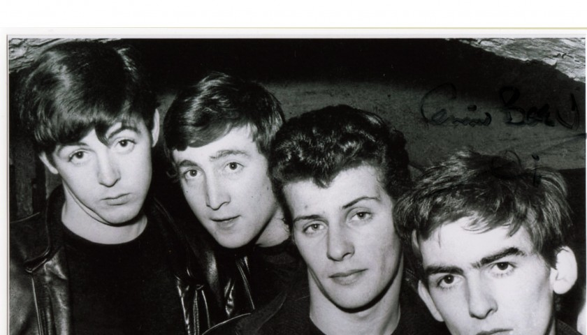 The Beatles photo signed by Pete Best