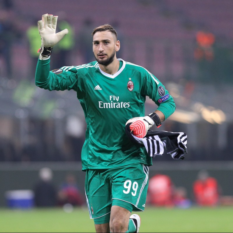 Donnarumma's Match-Issued and Signed AC Milan Shirt, 2017/18