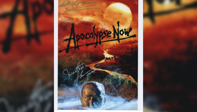 Photograph from Apocalypse Now Signed by Martin Sheen and Vittorio Storaro