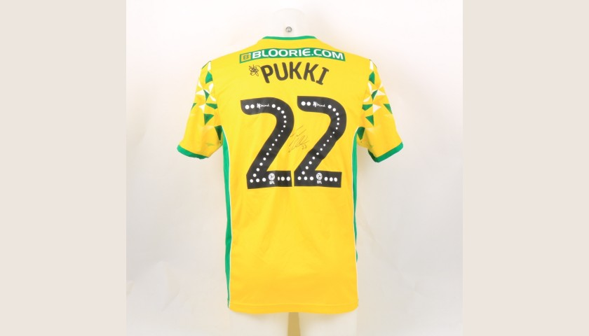 Pukki's Norwich Poppy Match Shirt - Signed
