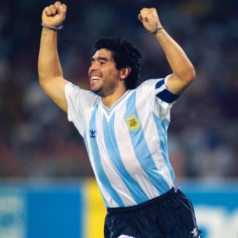 Maradona's Official Argentina Signed Shirt, 1990
