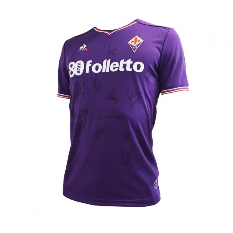 "Fiorentina FC Celebrative Shirt ""80 anni Folletto"" - Signed by the Team"