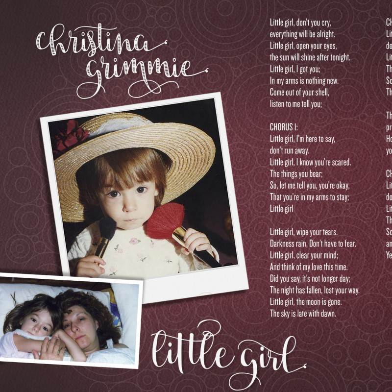 "Digitally Signed Limited Edition ""Little Girl"" Lyric Sheet"