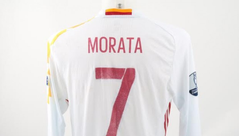 Morata match issued/worn shirt, Italy-Spain 27/06/16