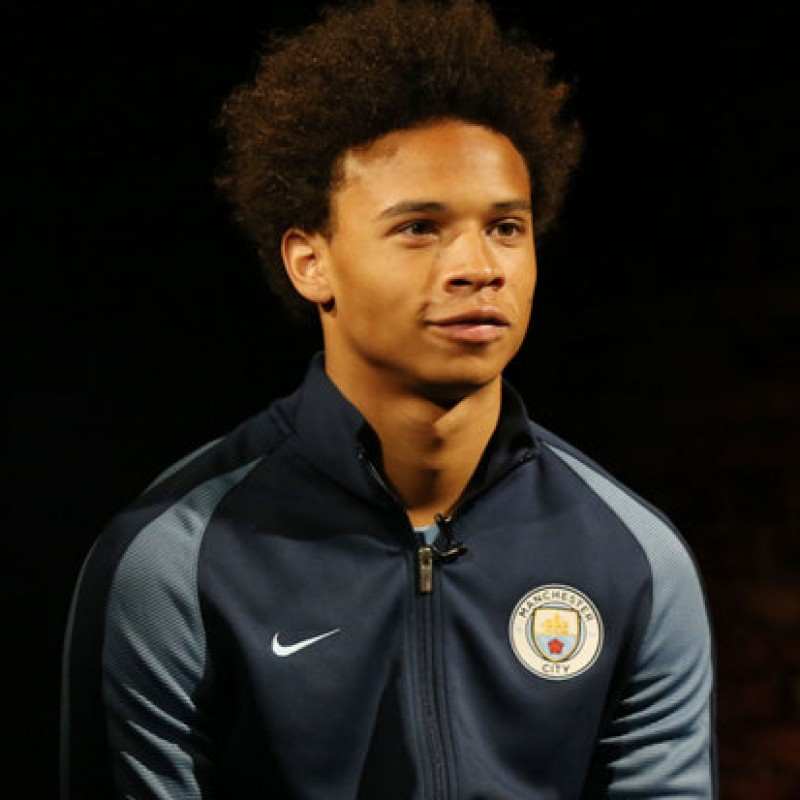 Sané's Manchester City Worn and Signed Walkout Jacket