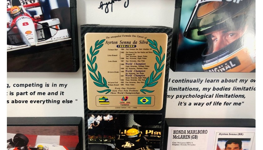 Ayrton Senna Hand-Signed Collection of Items