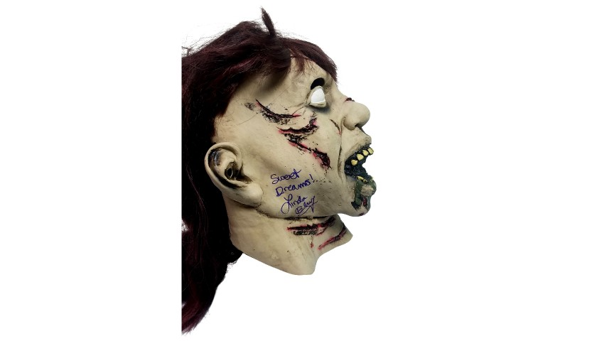 """The Exorcist"" Mask Hand Signed by Linda Blair"