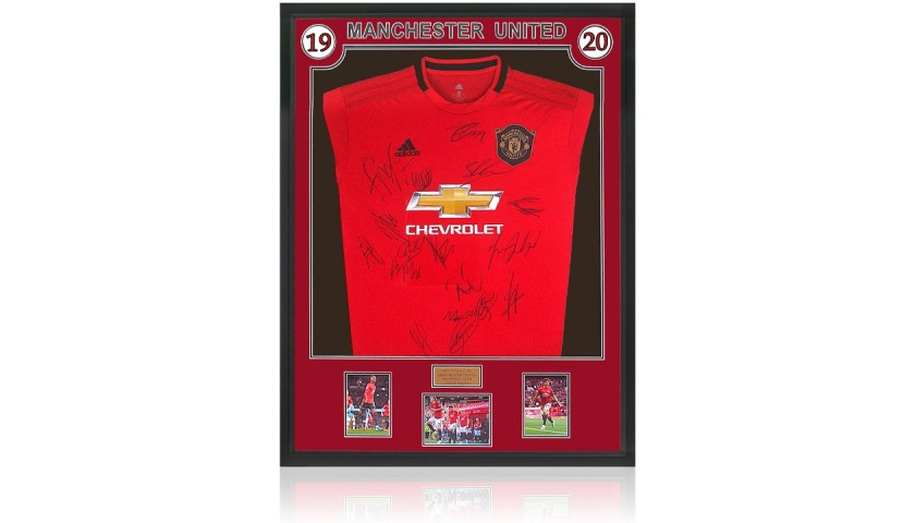 Manchester United 2019-20 Official Home Shirt Hand Signed By 17