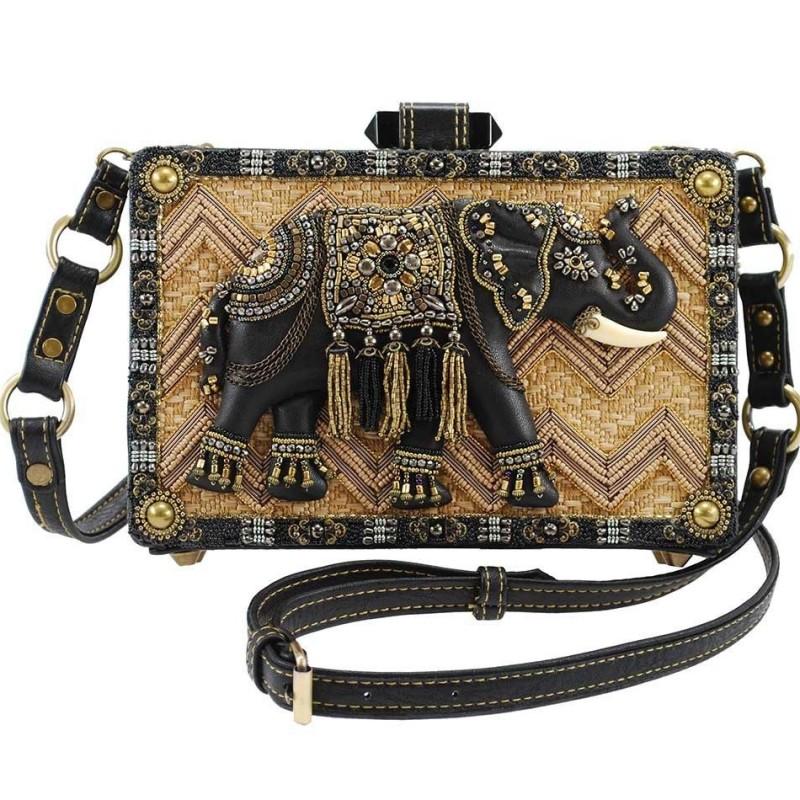 """Elephant Temple"" Handbag by Mary Frances"