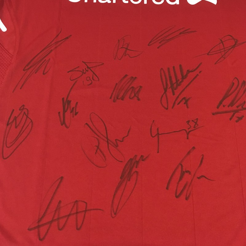 LFC Home Shirt Signed by First Team Players