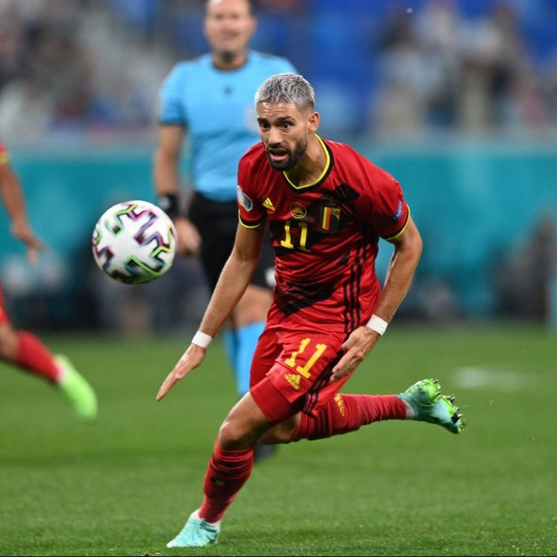 Carrasco's Match Worn Shirt, Belgium-Italy 2021
