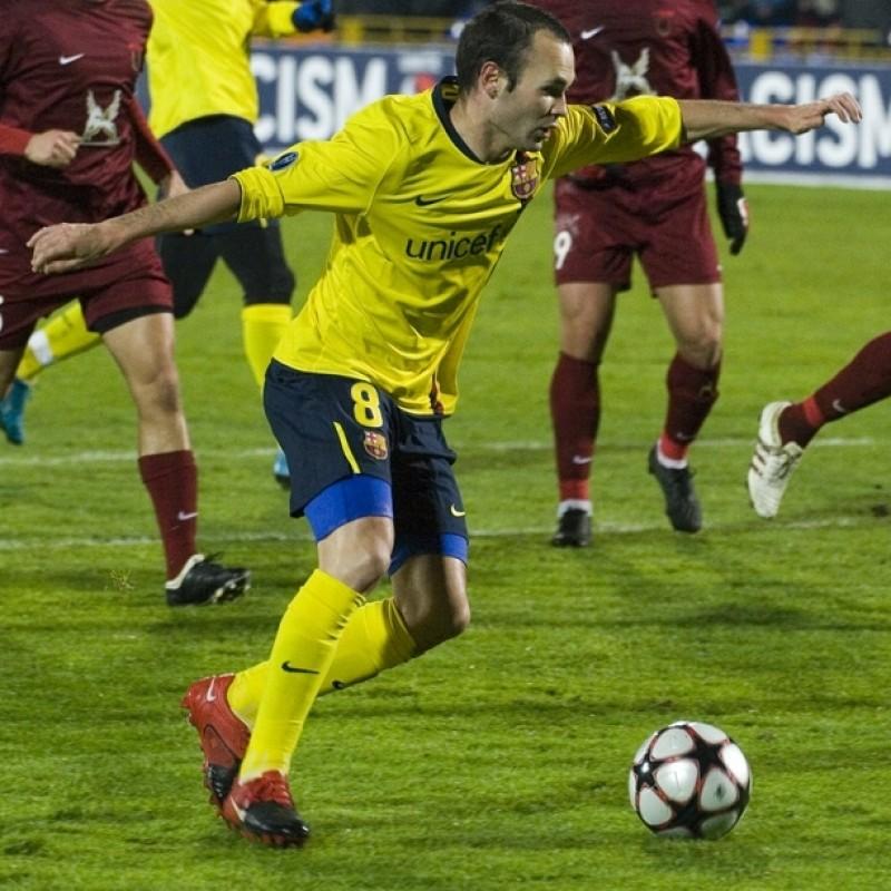 Iniesta's Match Shirt, Rubin Kazan-Barcelona 2009