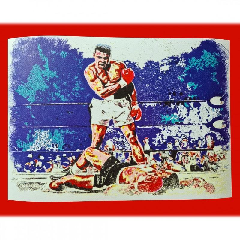 Muhammad Ali vs  Sonny Liston - Pop Artwork by Gabriele Salvatore