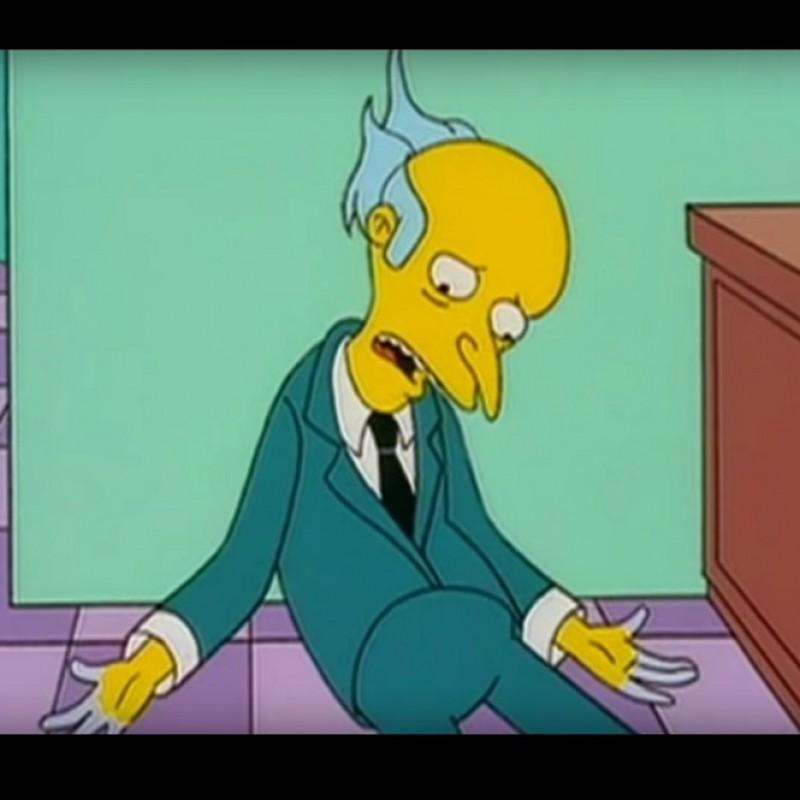 The Simpsons - Original Drawing of Montgomery Burns