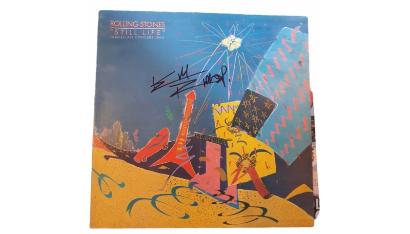 Keith Richards Signed The Rolling Stones Still Life Vinyl LP