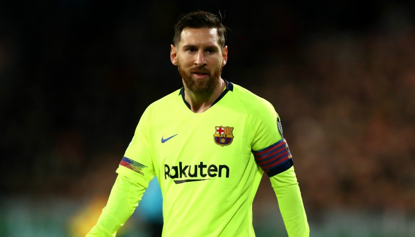 buy popular 0e6de f622c Messi's Match-Issue/Worn Shirt, PSV-Barcelona 2018 - CharityStars