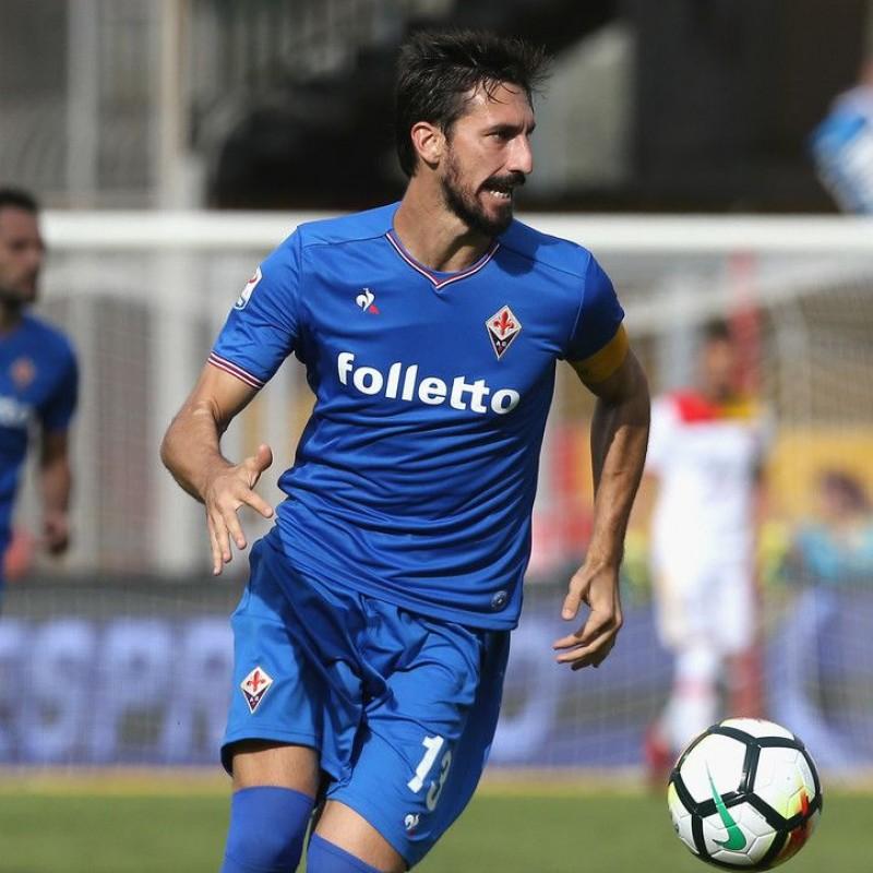Astori's Official Fiorentina Signed Shirt, 2017/18