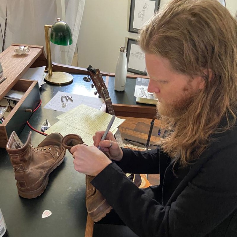 Wesley Schultz's Worn and Signed Boots