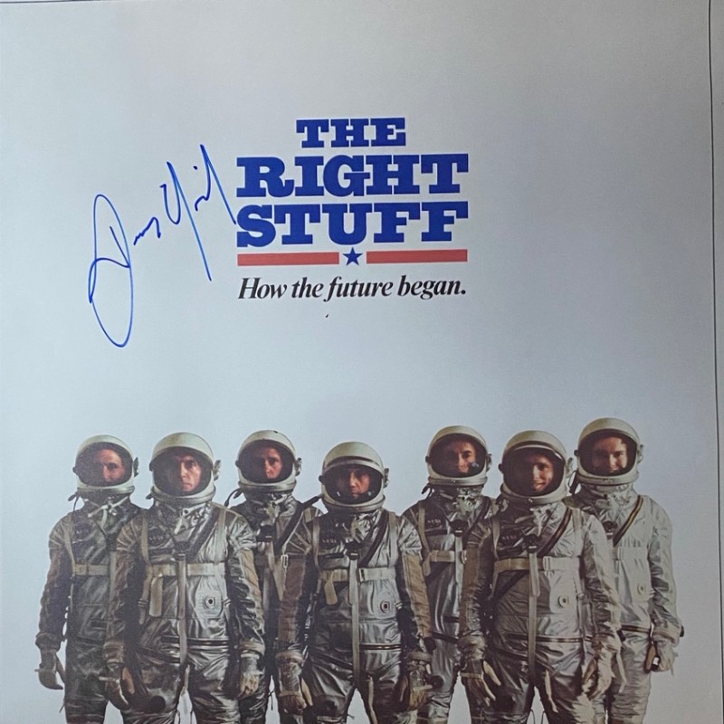 Dennis Quaid Signed The Right Stuff Original Movie Poster