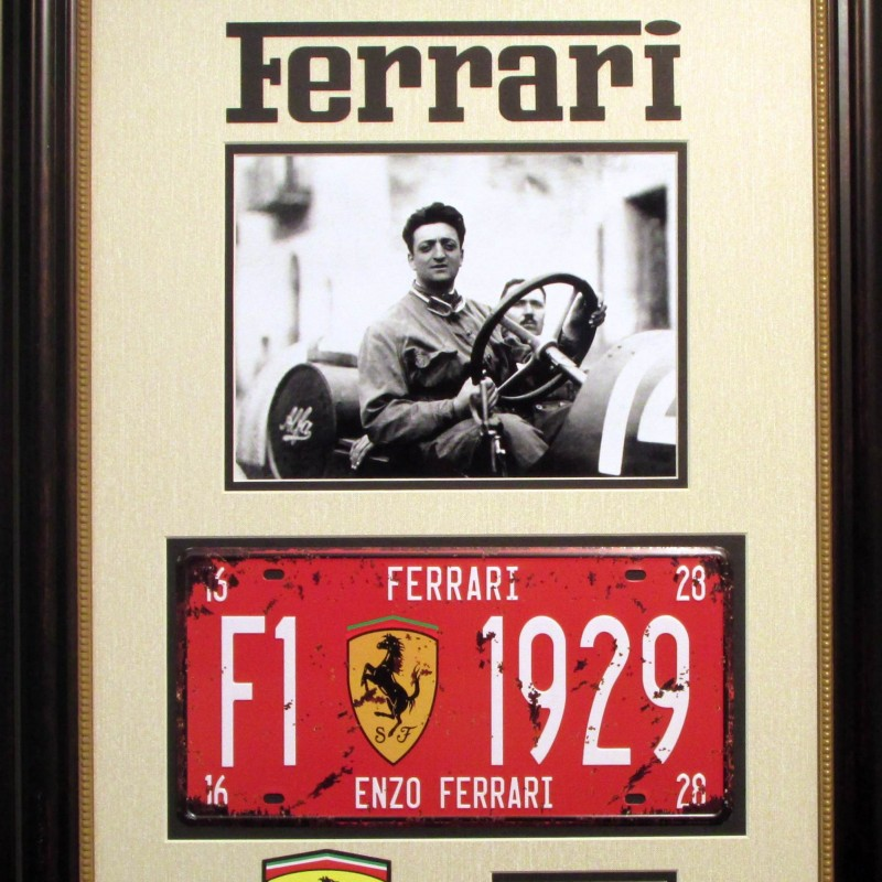 Enzo Ferrari Vintage License Plate and Photograph Collection