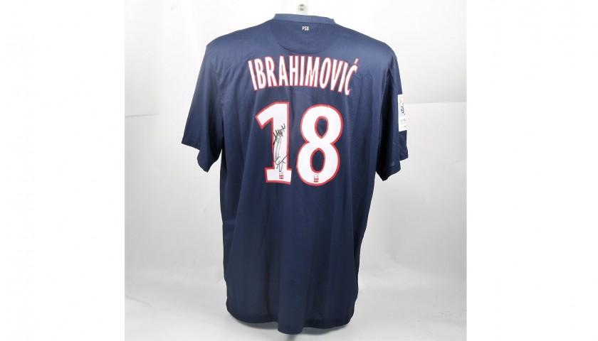 Official 2012/13 PSG Shirt Signed Ibrahimovic