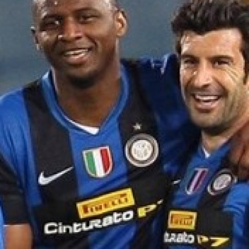 Figo match issued/worn shirt special sponsor, Udinese-Inter Serie A 2008/2009