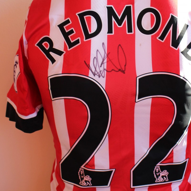 fcb1f6342 Nathan Redmond s Match Worn and Signed Southampton FC Poppy Shirt from ...