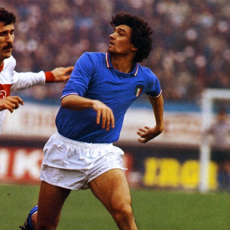 Altobelli's Worn Shirt, Italy-Mexico 1984