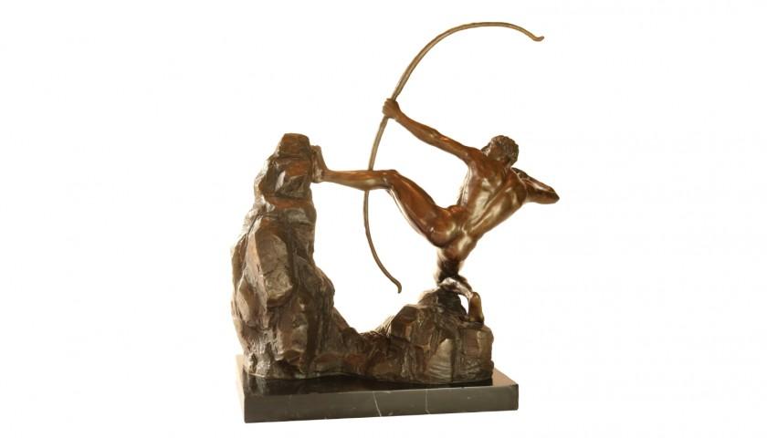 Bronze Sculpture of Archer by Fonderia Montagner