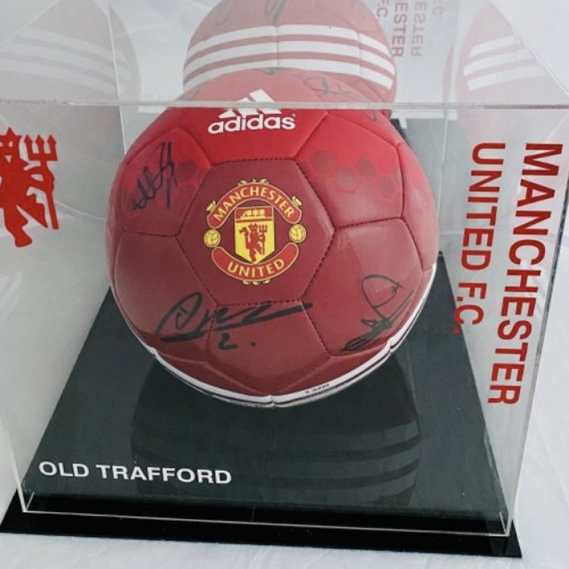 Manchester United Football Signed by 9