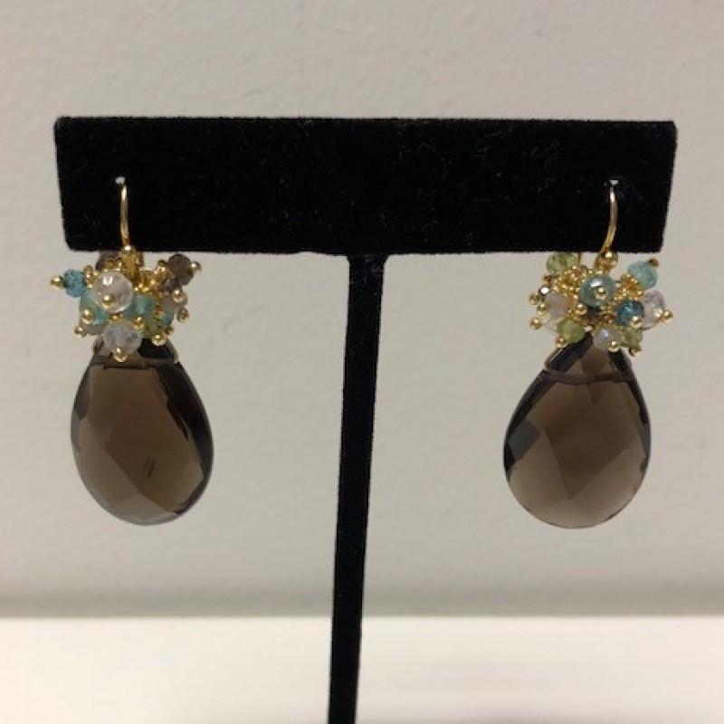 Quartz Earrings from Tashka by Beatrice