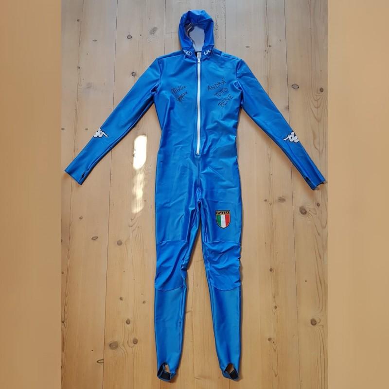 Mattia Gaspari's Skeleton Ski Suit