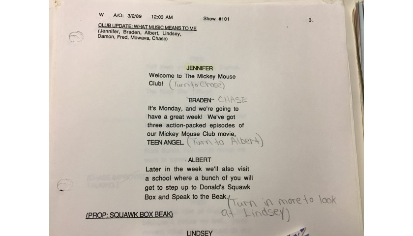 Authentic Mickey Mouse Club Script