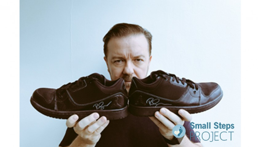 Ricky Gervais Signed Shoes