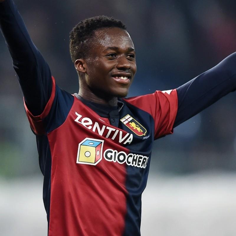 Kouame's Genoa Match-Issue Signed Shirt, 2018/19