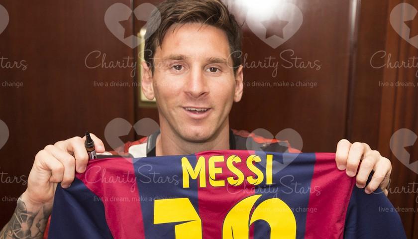 0fa2e8b1e Leo Messi Barcellona signed shirt - CharityStars