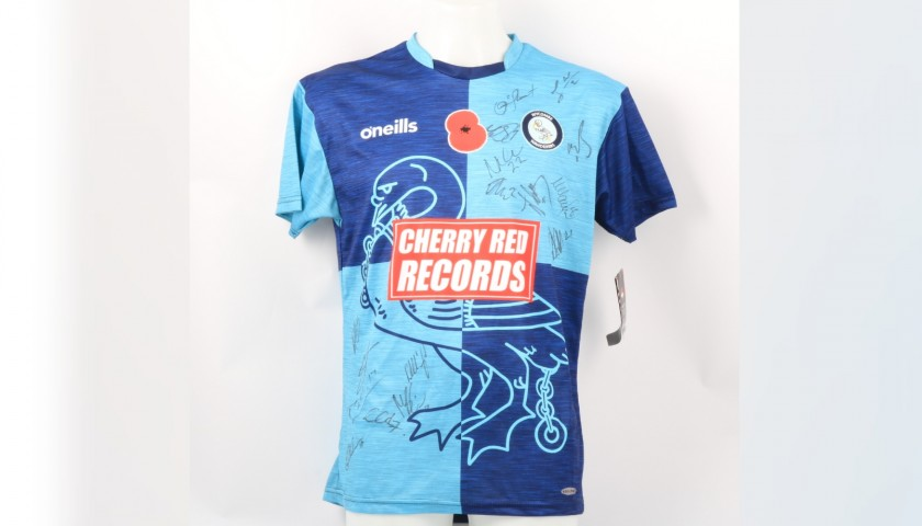 Wycombe Wanderers Official Poppy Shirt Signed by the Team