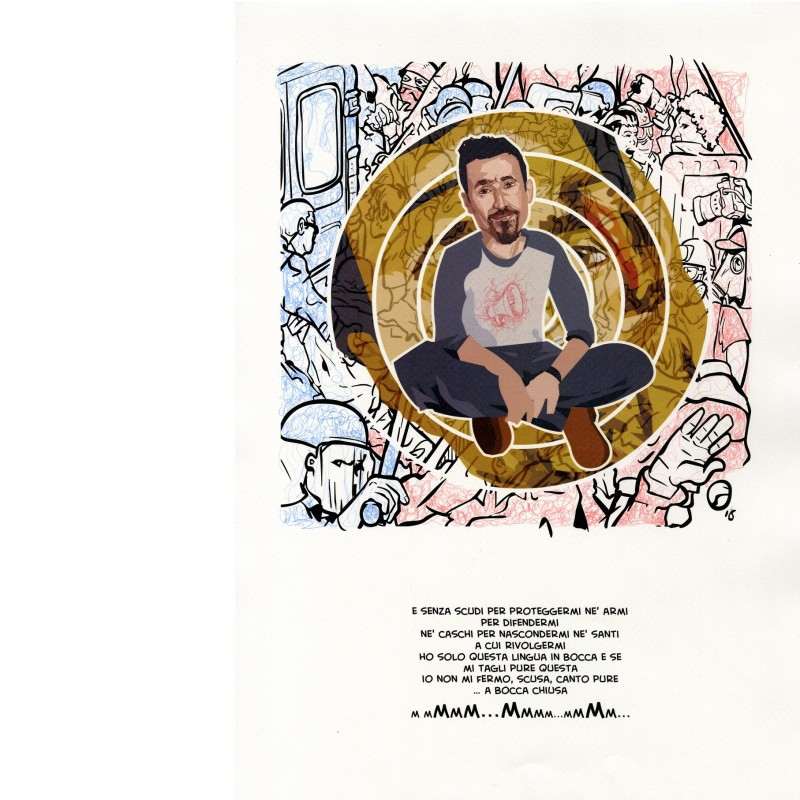 Daniele Silvestri's portrait by Fabio Folla