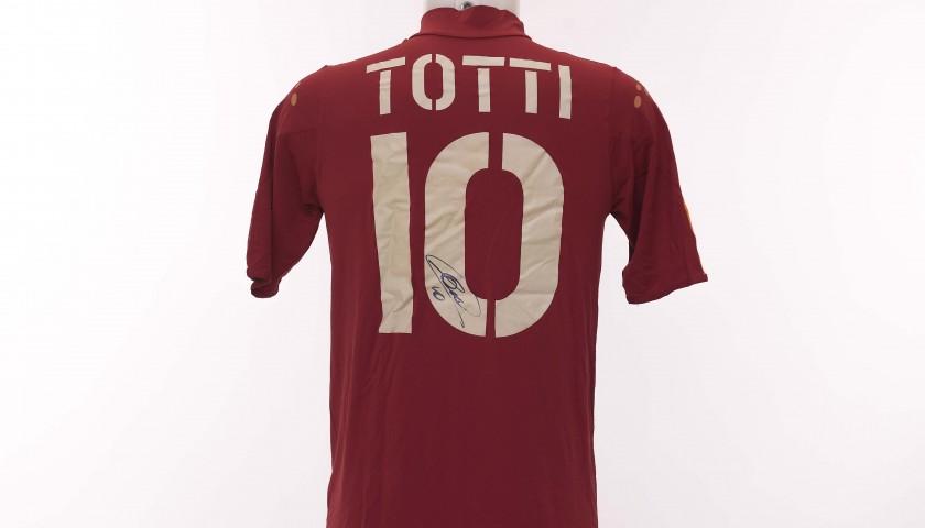 Francesco Totti's AS Roma Signed Shirt, 2004/2005