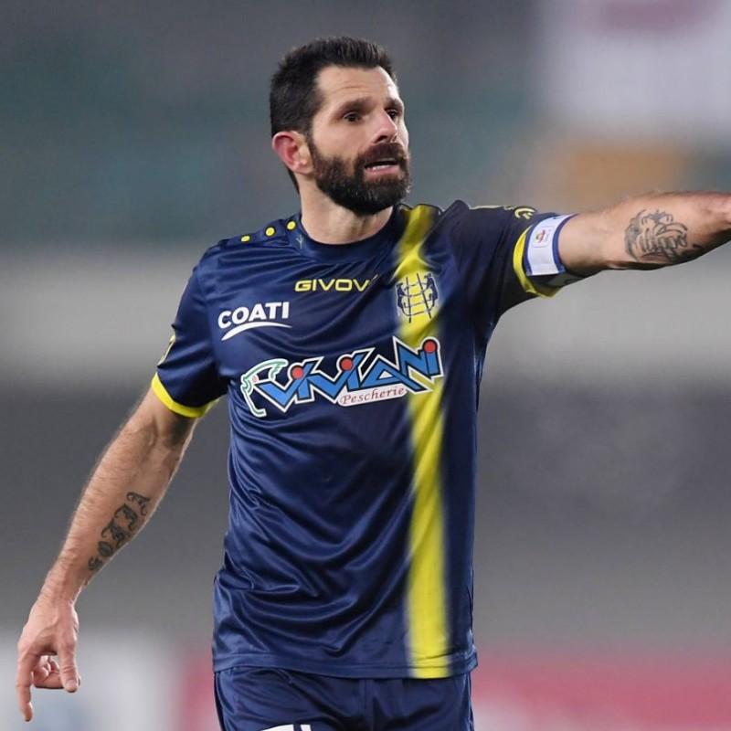 Pellissier's Official Chievo Verona Signed Shirt, 2018/19