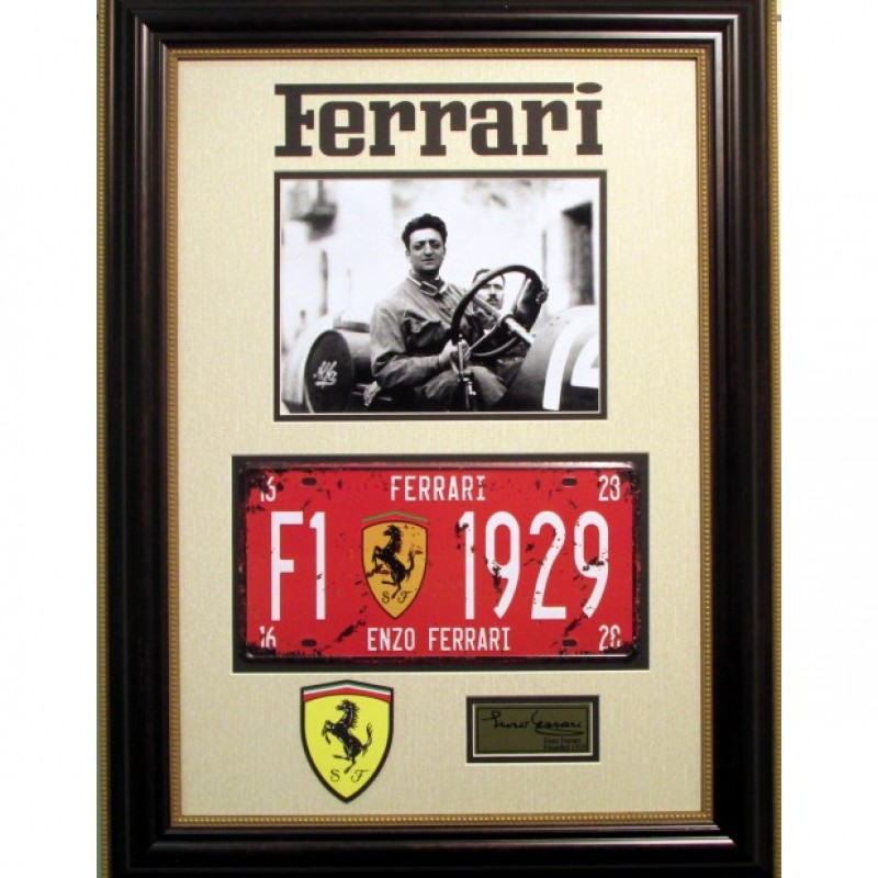 Enzo Ferrari's Vintage License Plate and Photo Collection