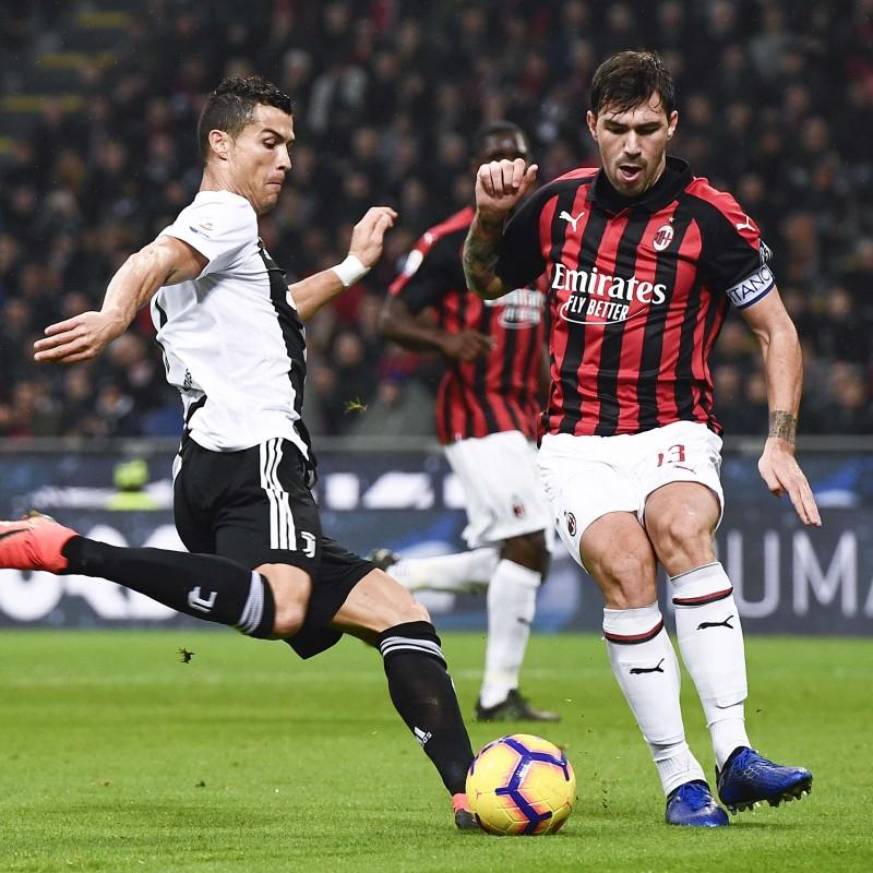 Romagnoli's Match Shirt, Milan-Juventus 2018