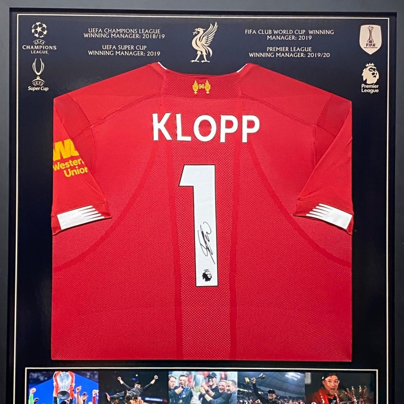Framed Liverpool Home Shirt 2018/19 Signed by Jürgen Klopp