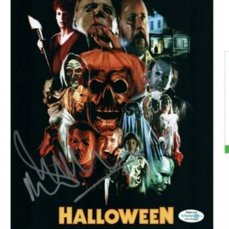 """Malcolm McDowell """"Halloween"""" Hand Signed Photograph"""