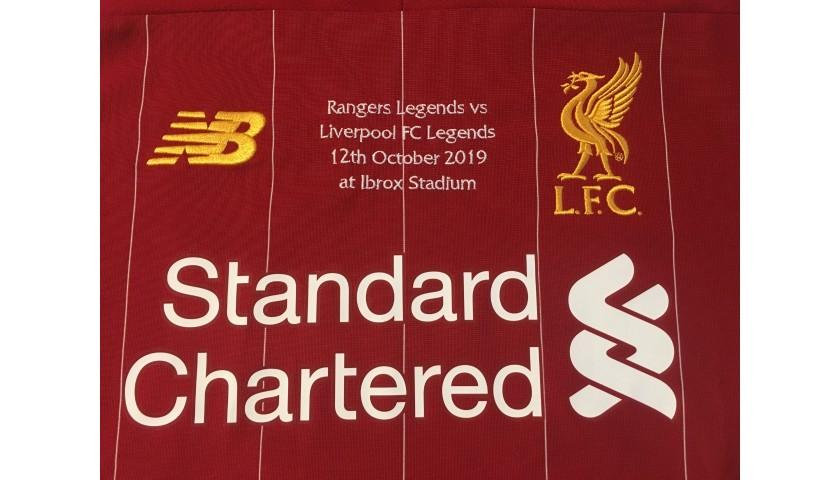 Gerrard's Liverpool FC Legends Match Worn and Signed Shirt