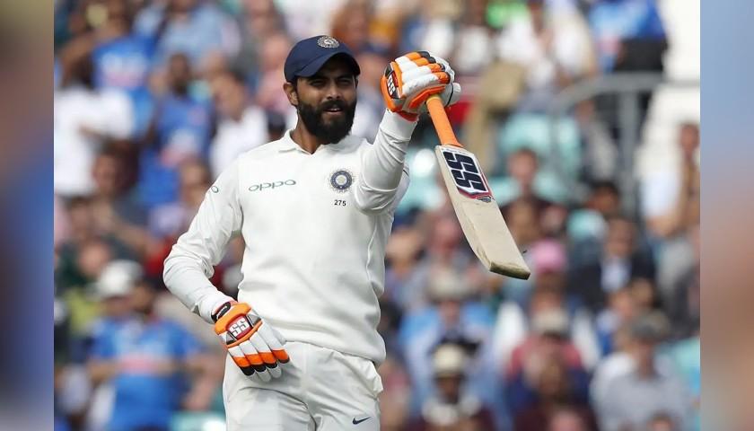 India Cricket Cap Signed by Ravindra Jadeja