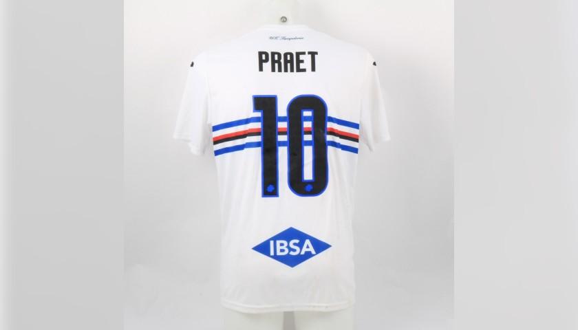 Praet's Worn Shirt, Parma-Sampdoria - #Blucrociati