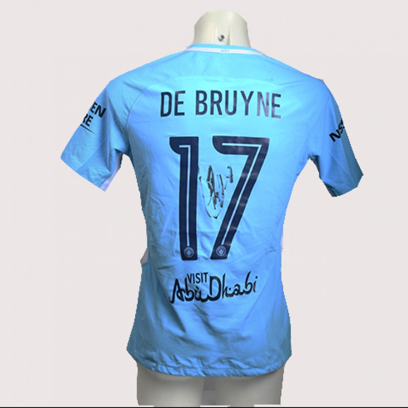 Kevin de Bruyne Match-Worn Signed Manchester Derby Shirt